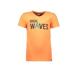 B.Nosy B.Nosy jongens t-shirt High Waves Neon Orange