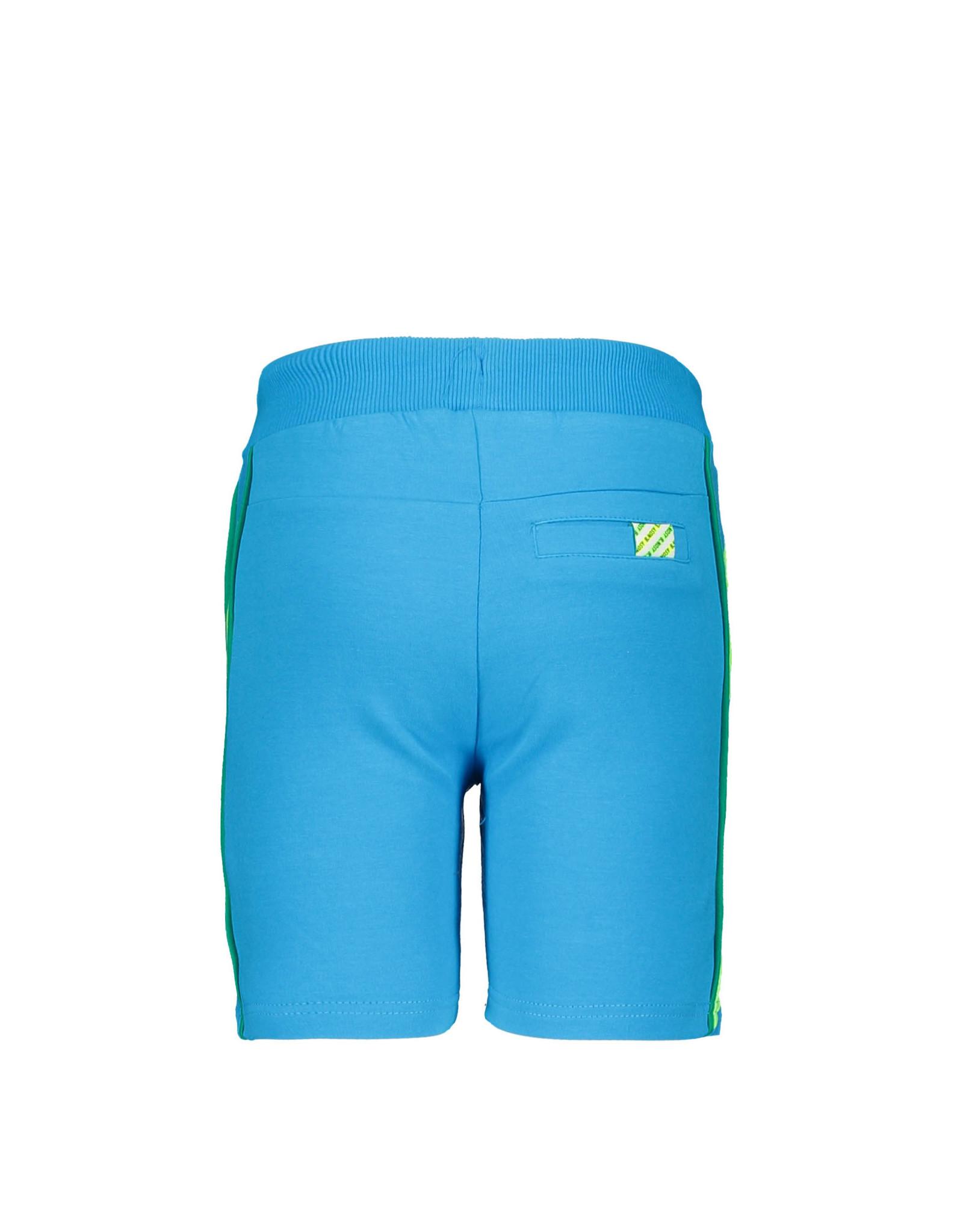 B.Nosy B.Nosy jongens korte joggingbroek met bies Surf Blue