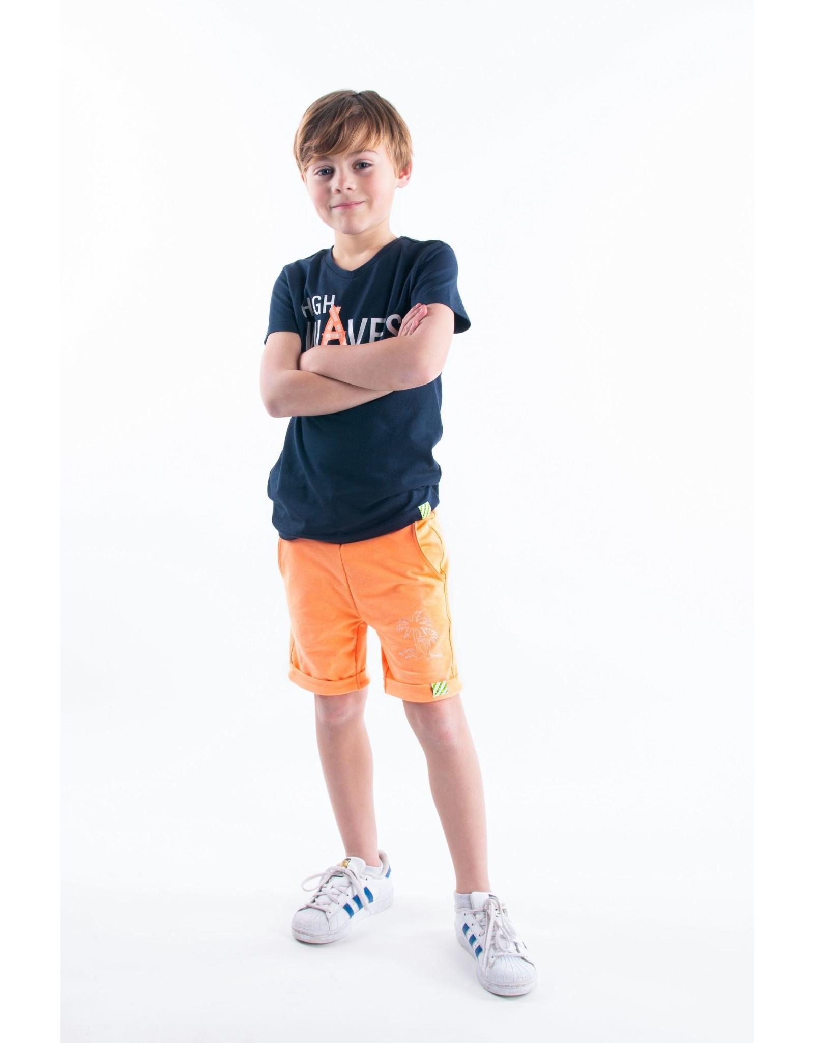 B.Nosy B.Nosy jongens korte joggingbroek Neon Orange S21