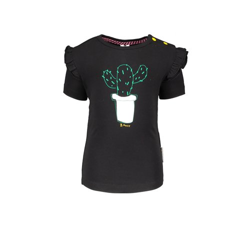 B.Nosy B.Nosy baby meisjes t-shirt Cactus Black