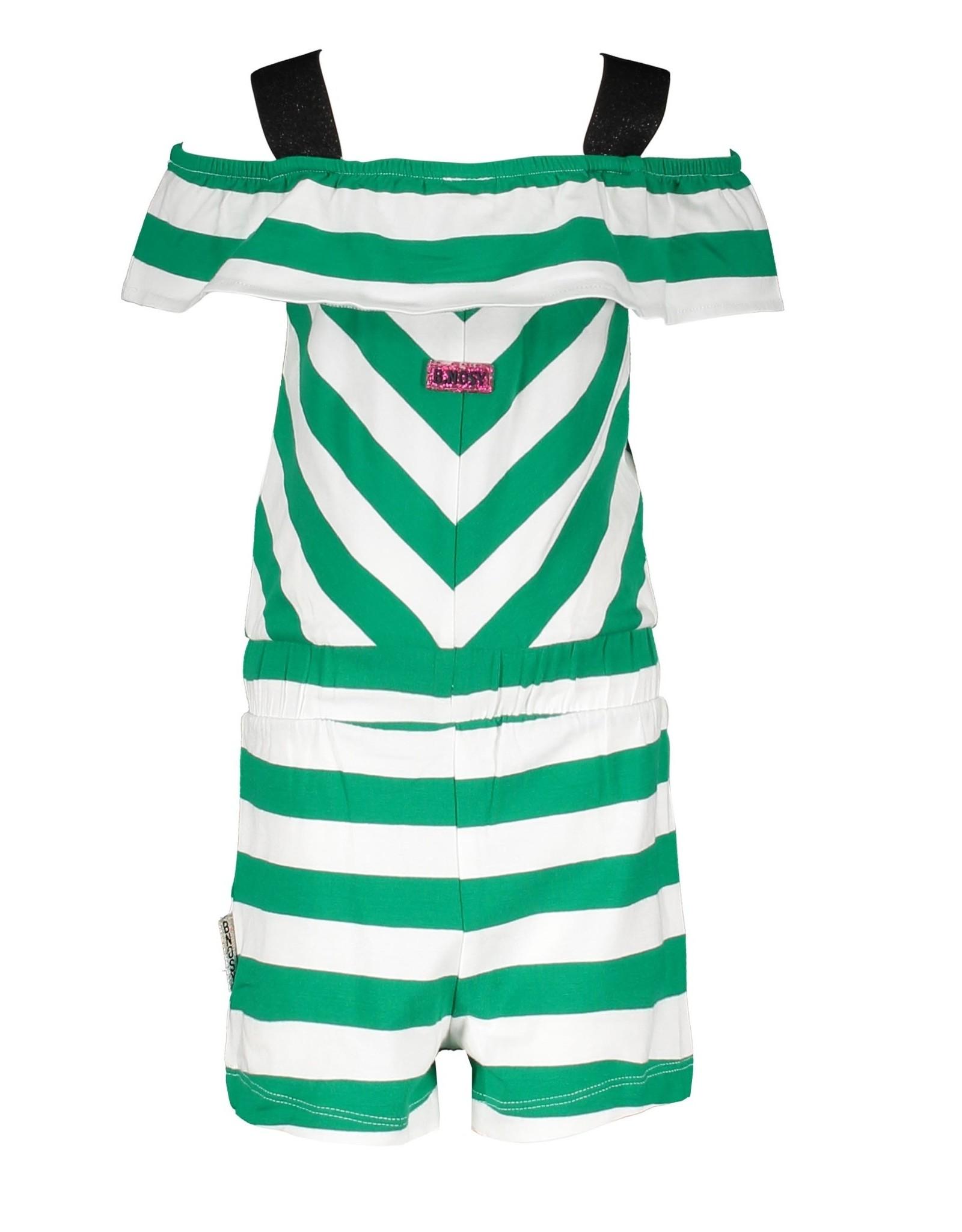 B.Nosy B.Nosy baby meisjes jumpsuit Cheer Golf Green Stripe