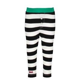 B.Nosy B.Nosy baby meisjes legging Cheer Black White Stripe