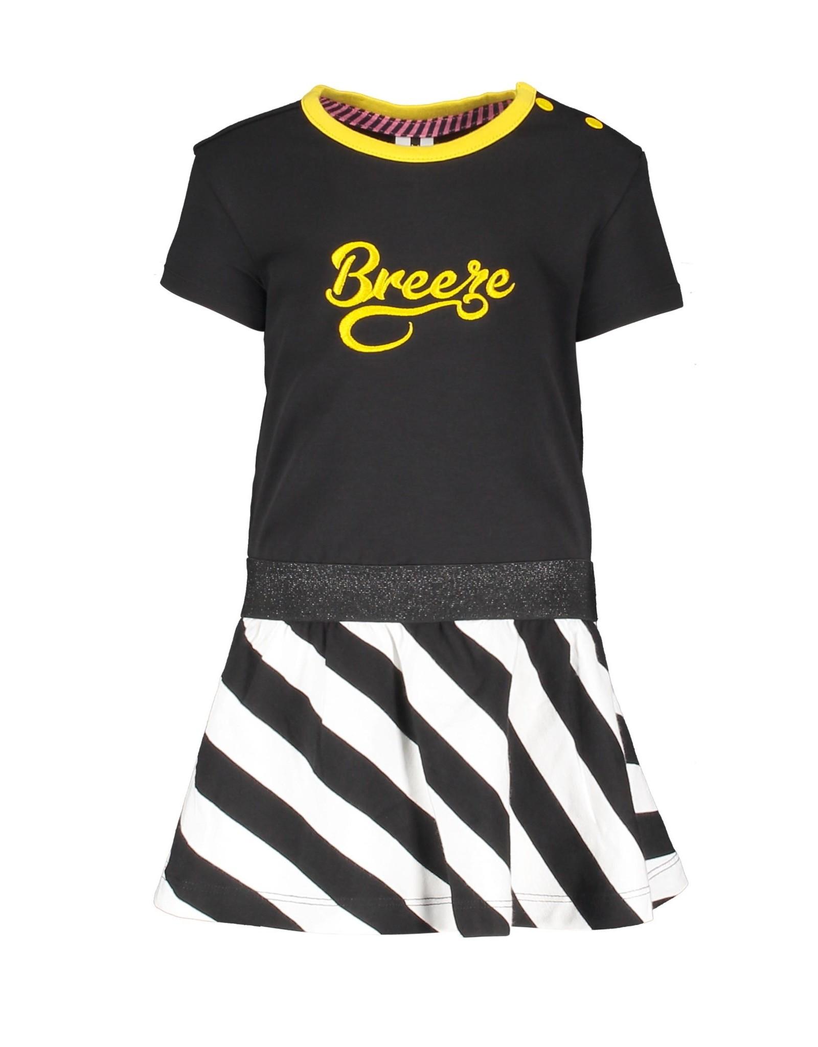 B.Nosy B.Nosy baby meisjes jurk Breeze Black