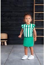 B.Nosy B.Nosy baby meisjes jurk Cheerful Cheer Golf Green Stripe
