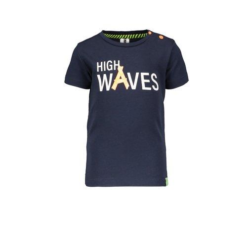B.Nosy B.Nosy baby jongens t-shirt High Waves Oxford Blue