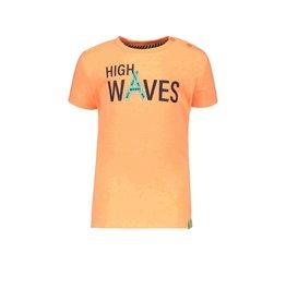 B.Nosy B.Nosy baby jongens t-shirt High Waves Neon Orange