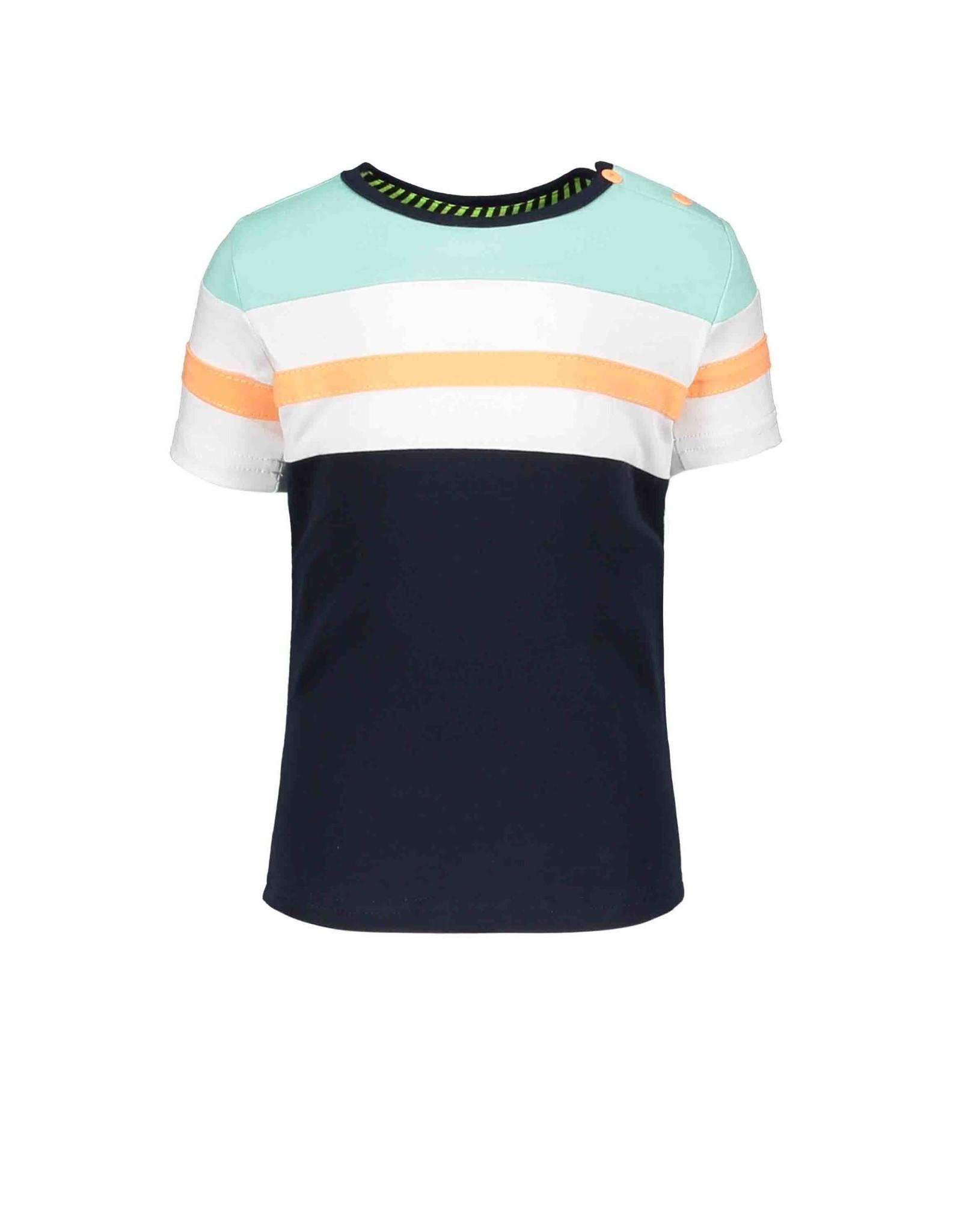 B.Nosy B.Nosy baby jongens t-shirt Color Block Oxford Blue