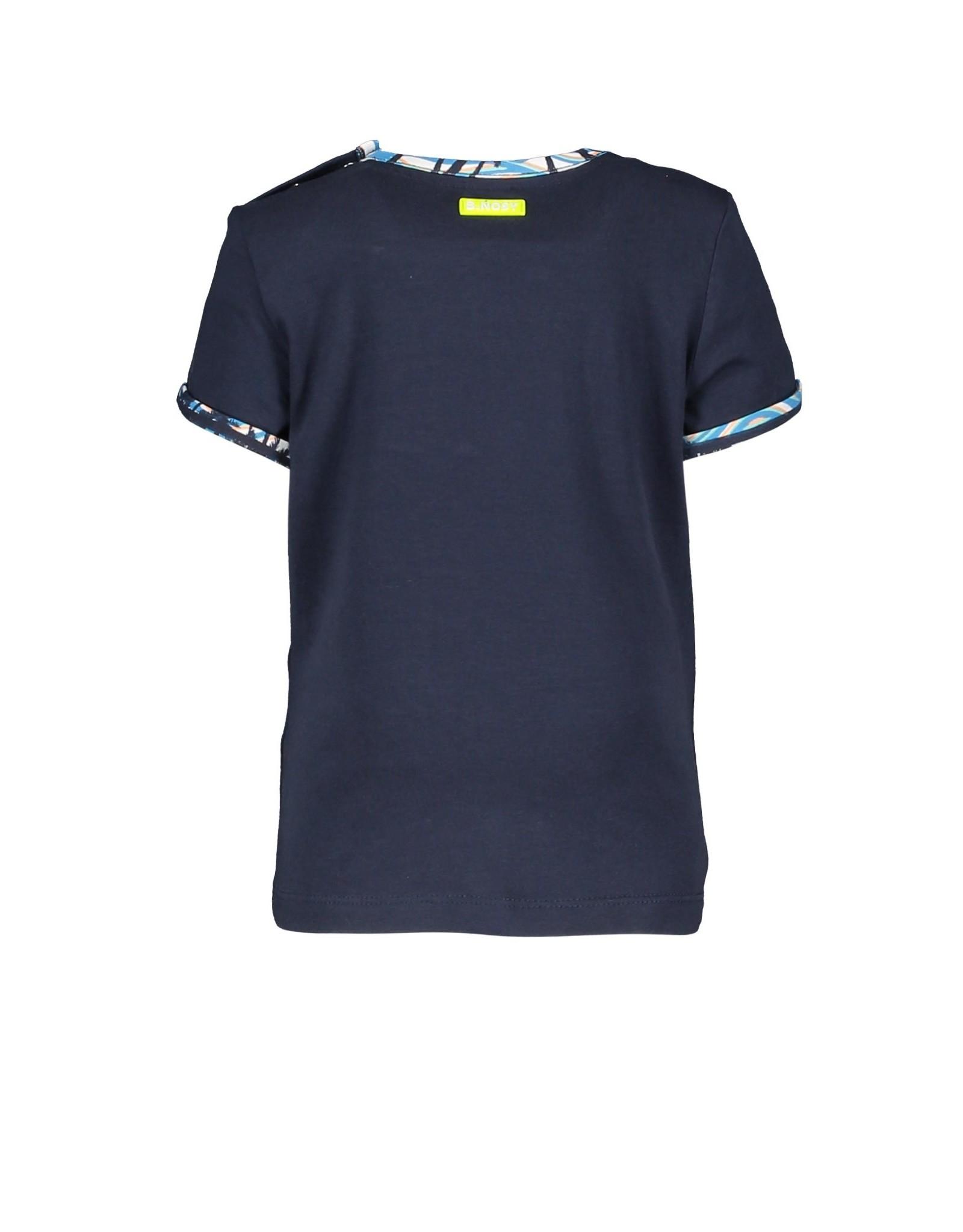 B.Nosy B.Nosy baby jongens t-shirt Dude Oxford Blue