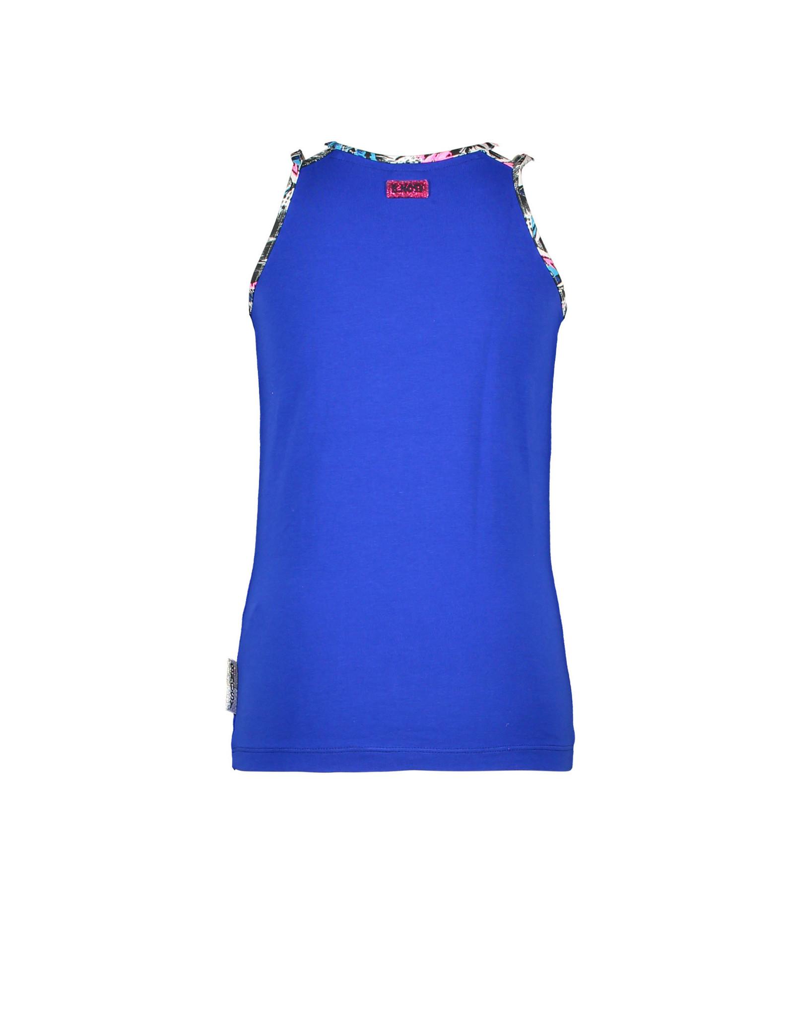 B.Nosy B.Nosy meisjes t-shirt Peacock Cobalt Blue