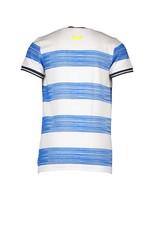 B.Nosy B.Nosy jongens t-shirt Stripe Electric Blue