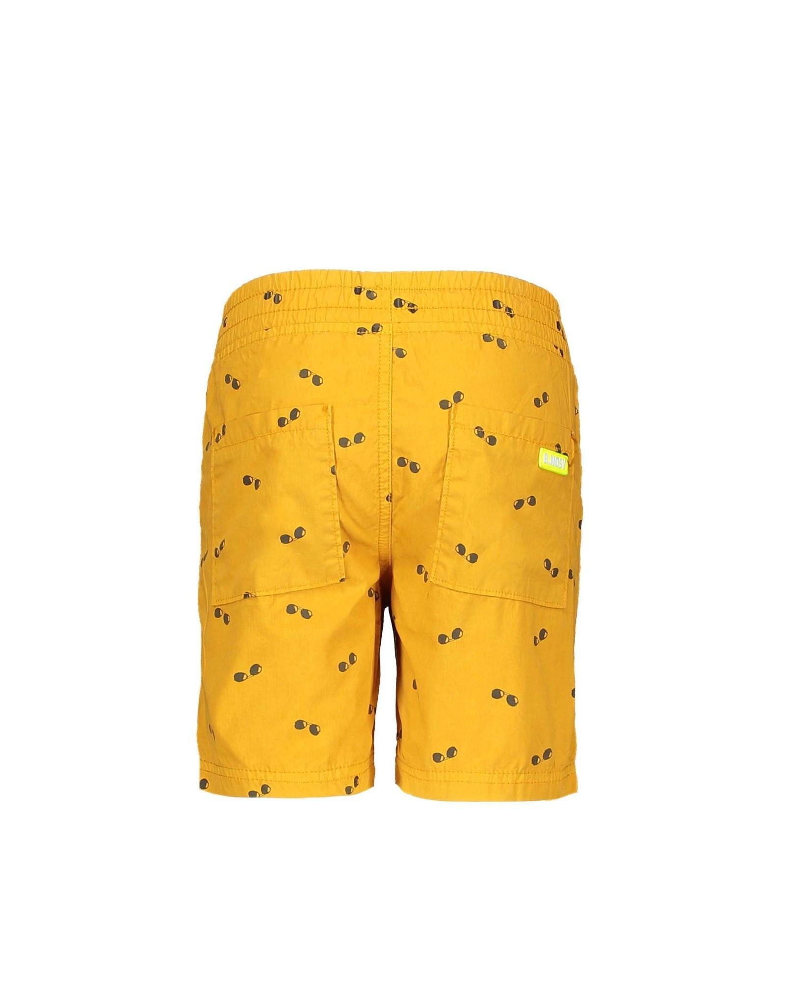 B.Nosy B.Nosy jongens korte broek Sunglasses Melee Print Mustard