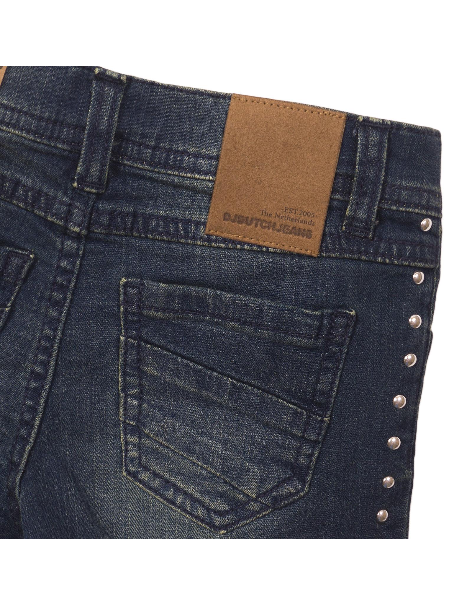 DJ Dutchjeans DJ Dutchjeans meisjes korte jeans met stuts Blue