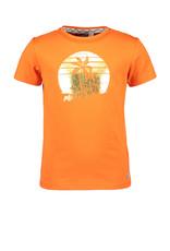 Moodstreet Moodstreet meisjes t-shirt Orange Chestprint