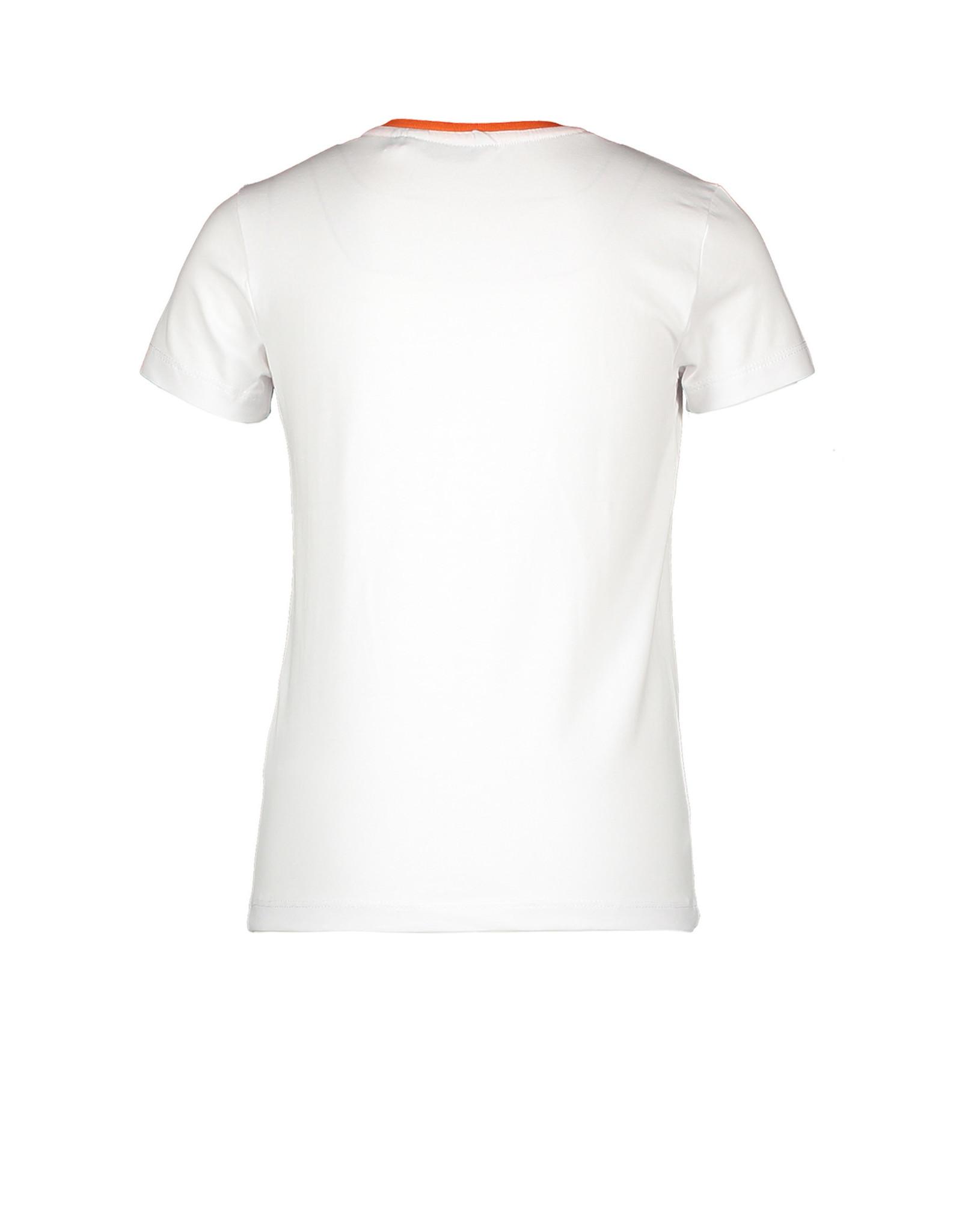 Moodstreet Moodstreet meisjes t-shirt White Glitterprint