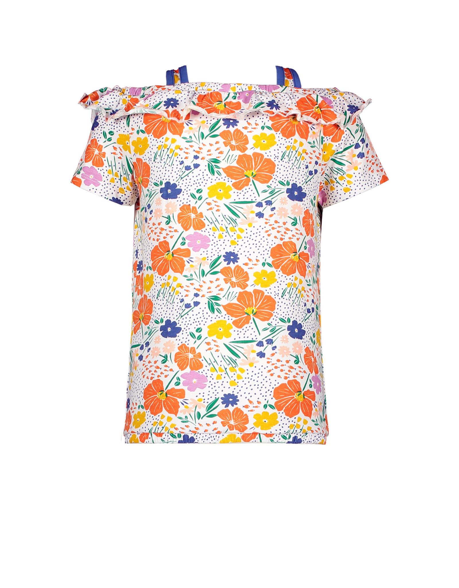 Moodstreet Moodstreet meisjes off shoulder t-shirt Orange