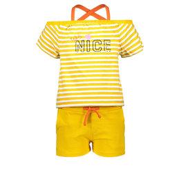 Moodstreet Moodstreet meisjes jumpsuit Yellow Stripe