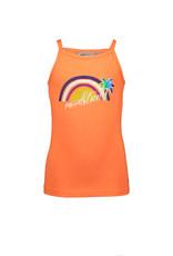 Moodstreet Moodstreet meisjes top Shocking Orange Rainbow