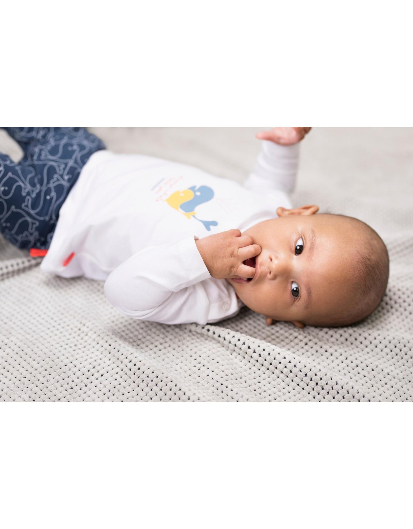 Bampidano Bampidano newborn shirt Dion White