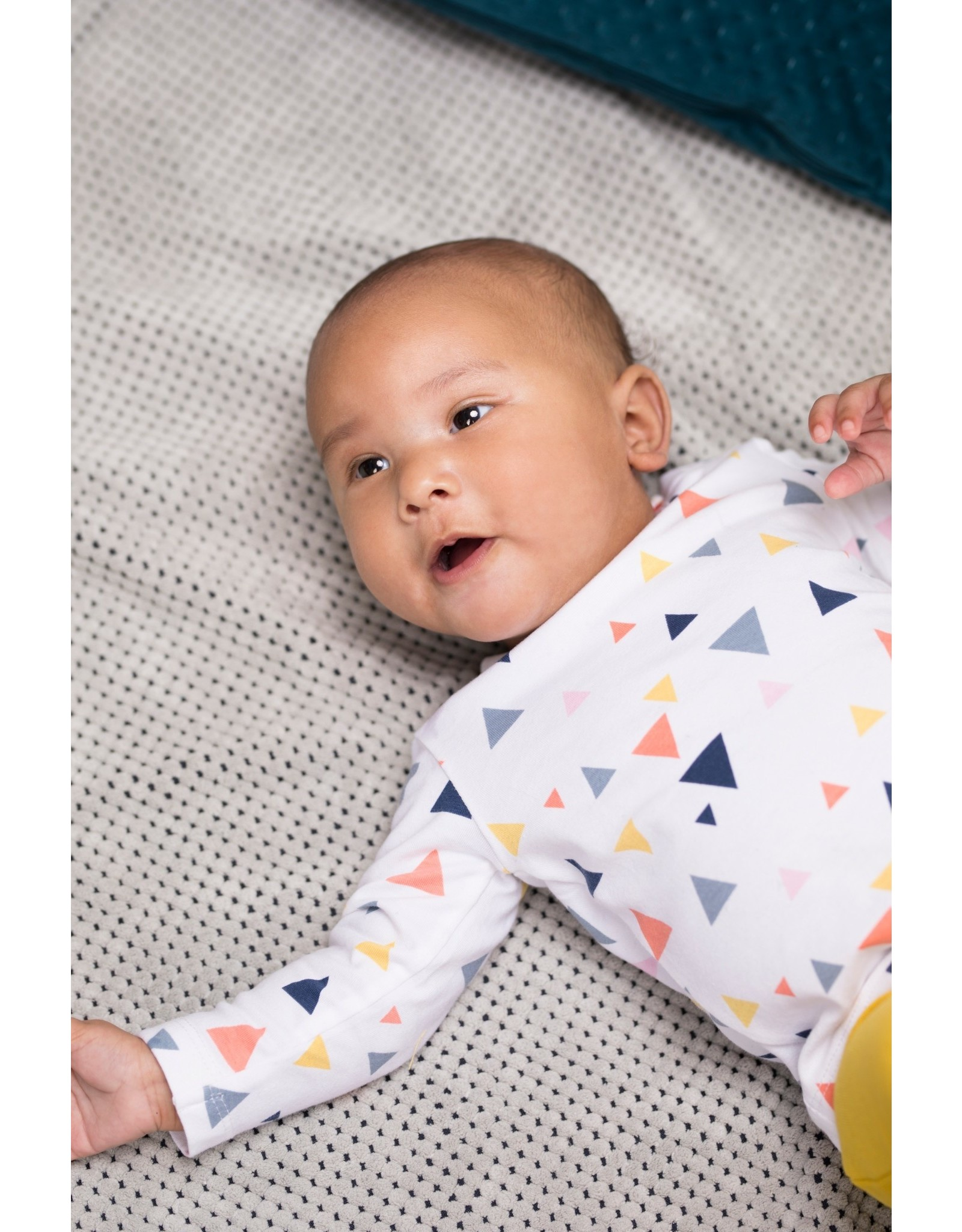 Bampidano Bampidano newborn neutraal shirt Danique White Allover