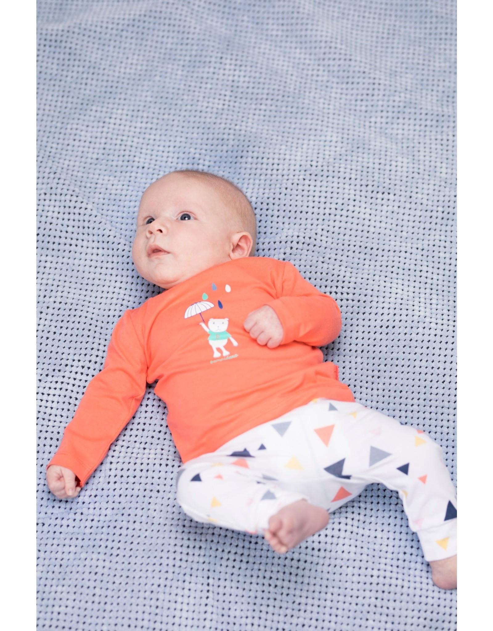 Bampidano Bampidano newborn neutraal joggingbroek Diede White Allover