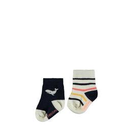 Bampidano Bampidano newborn neutraal 2-pack sokjes Devon Indigo