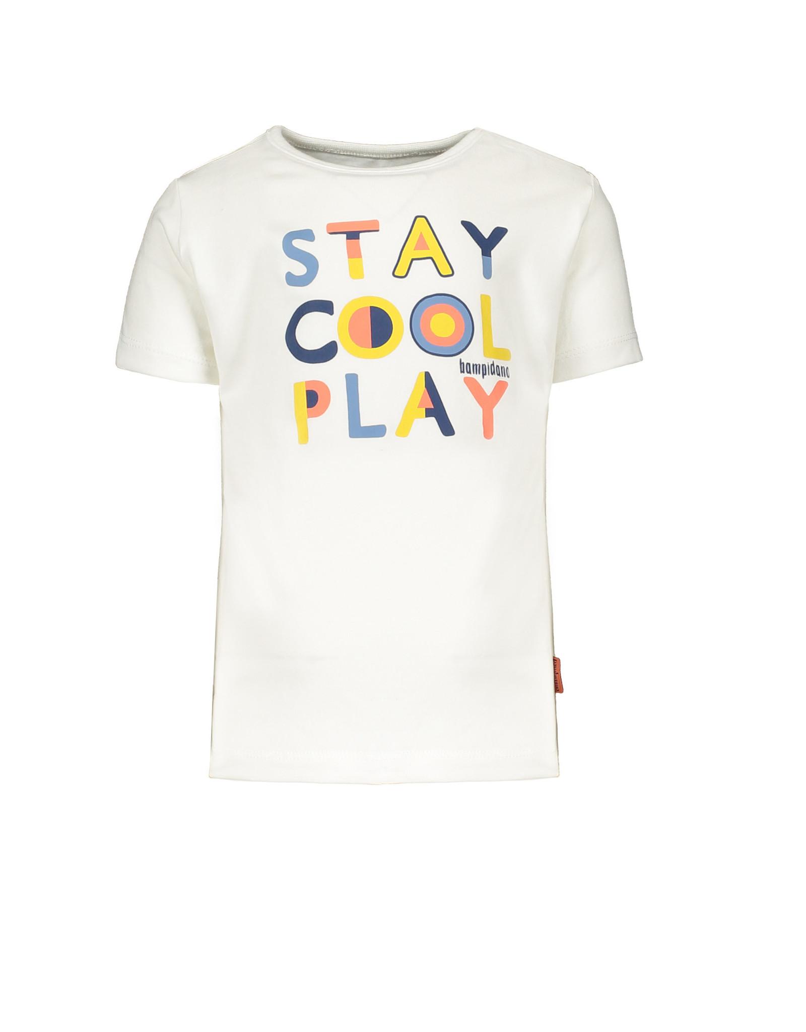 Bampidano Bampidano jongens t-shirt Dex White