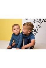 Bampidano Bampidano baby jongens shirt Denzel Stone Blue