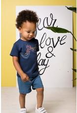 Bampidano Bampidano baby jongens korte joggingbroek Dario Stone Blue