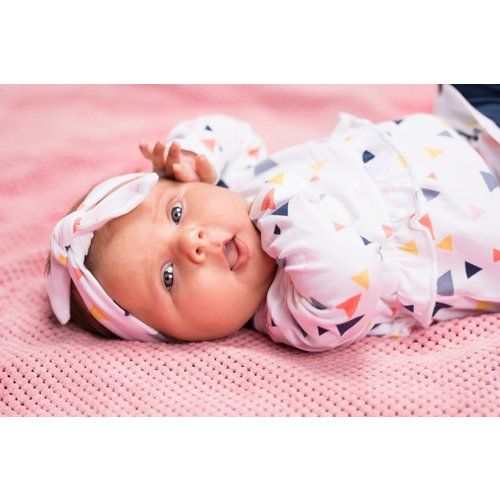 Bampidano Bampidano newborn meisjes haarband Daisy White Allover
