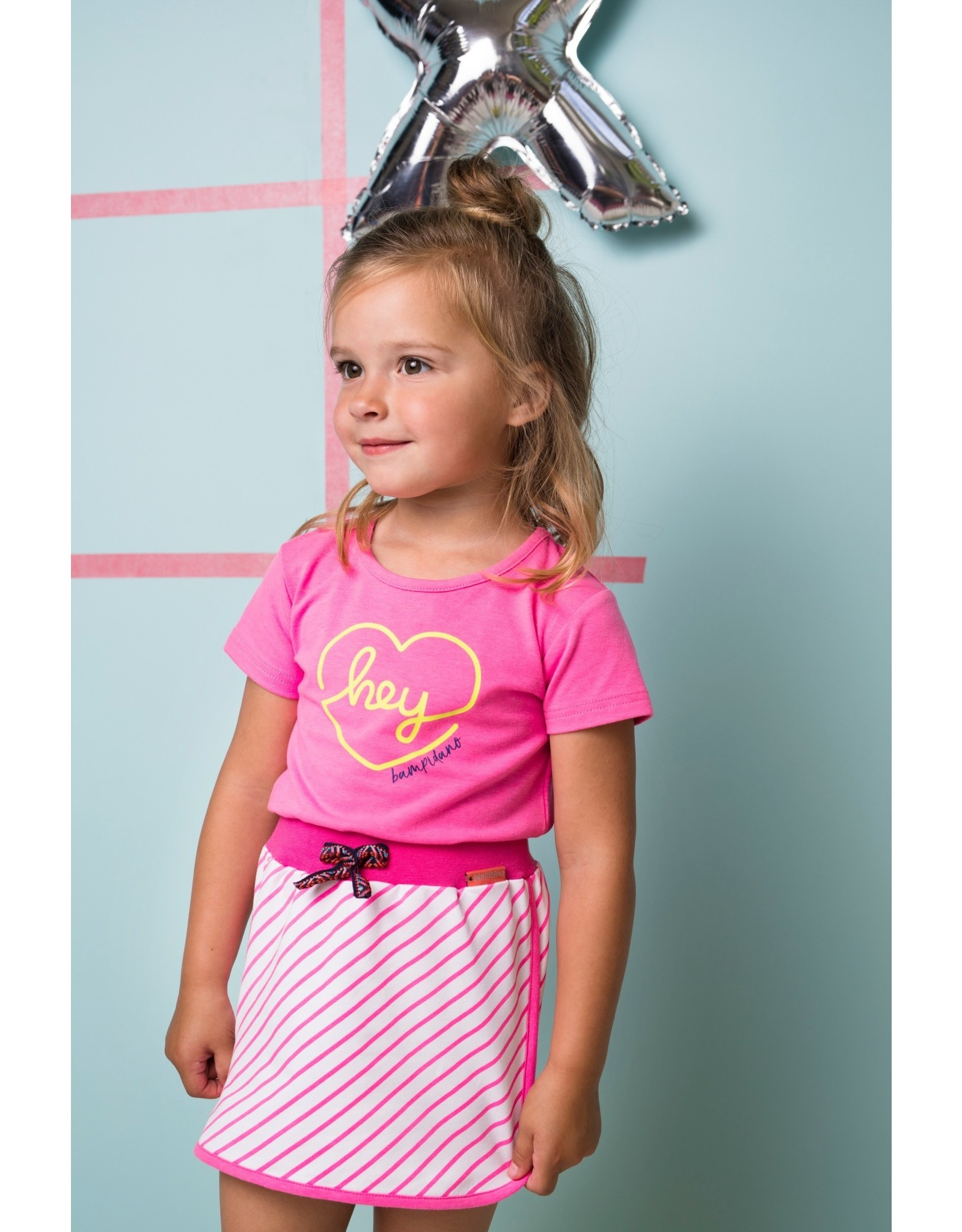 Bampidano Bampidano meisjes t-shirt Ella Neon Pink