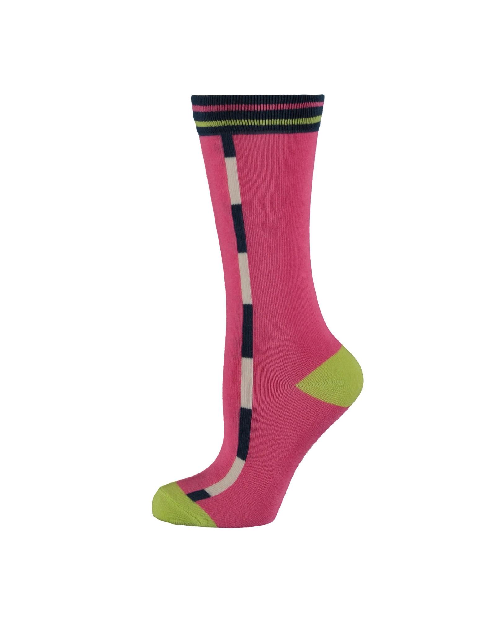 Bampidano Bampidano meisjes sokken Elli Neon Pink