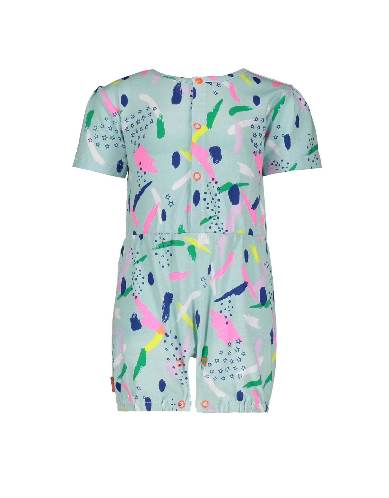 Bampidano Bampidano baby meisjes jumpsuit Esmee Blue Allover