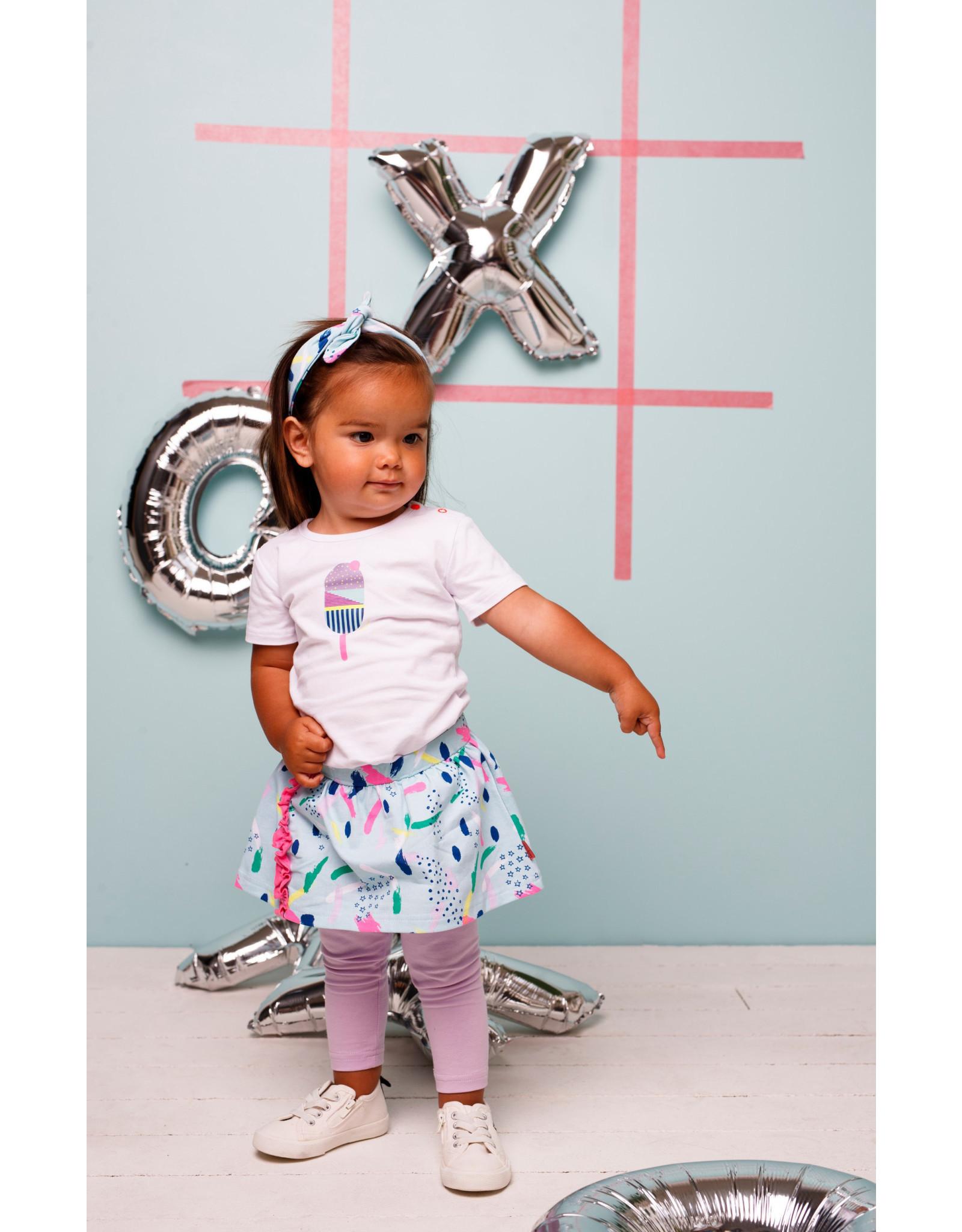 Bampidano Bampidano baby meisjes t-shirt Ella White