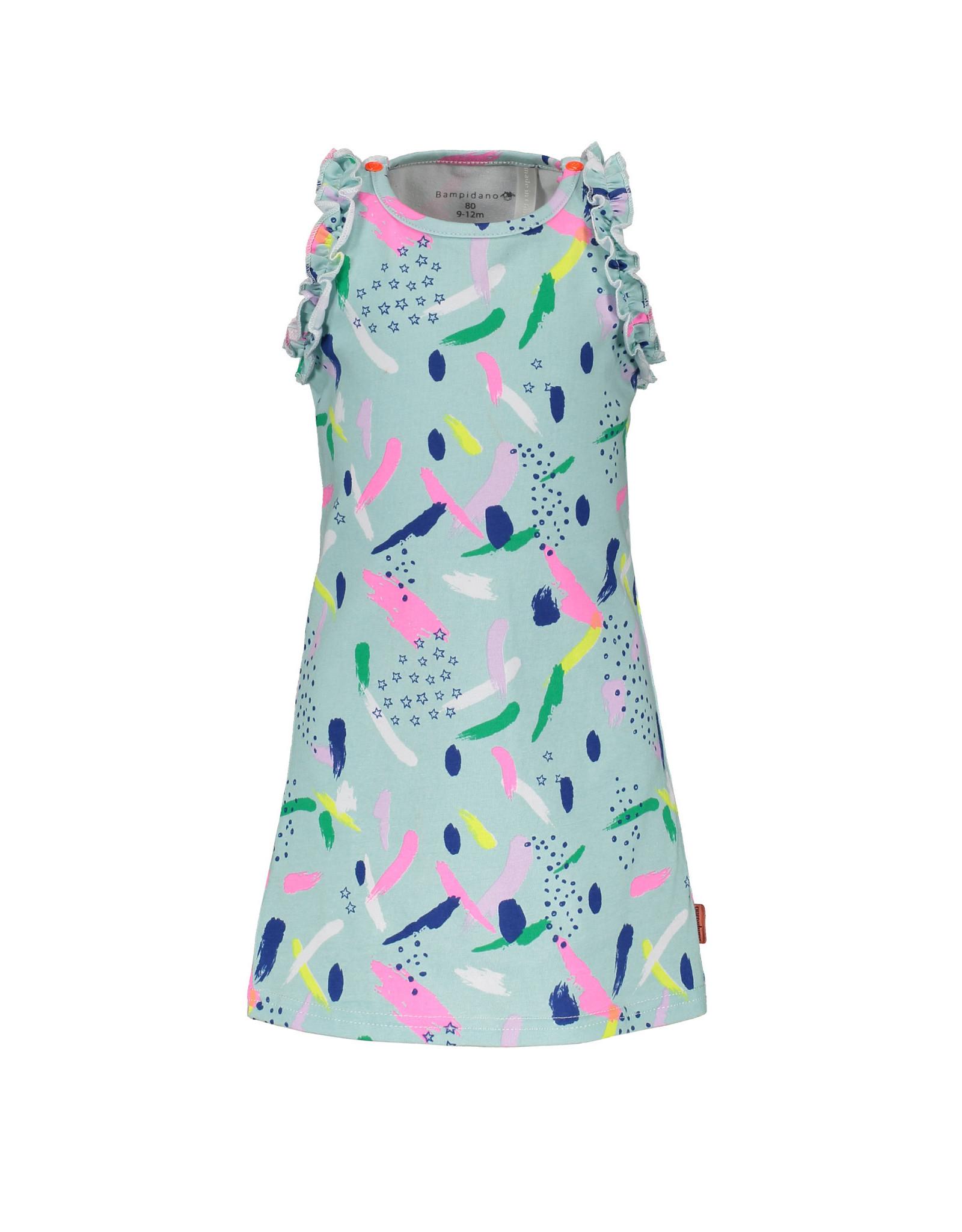 Bampidano Bampidano baby meisjes jurk Eloise Blue Allover