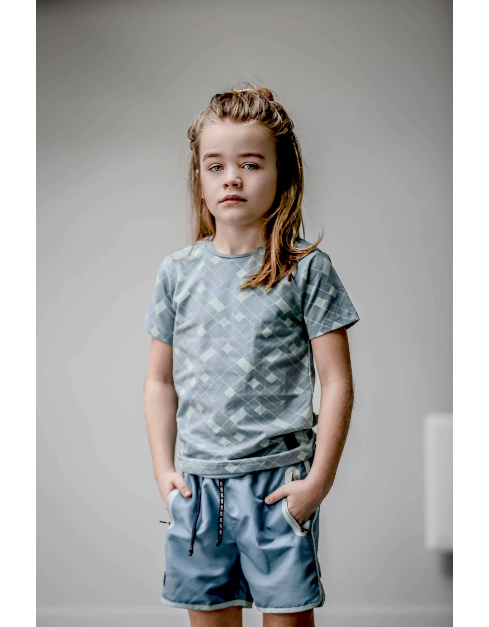 LEVV Levv jongens t-shirt Mak Vintage Blue Graphic