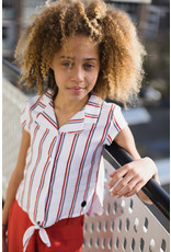 LEVV Levv meiden blouse top Milana White Stripe Dessin
