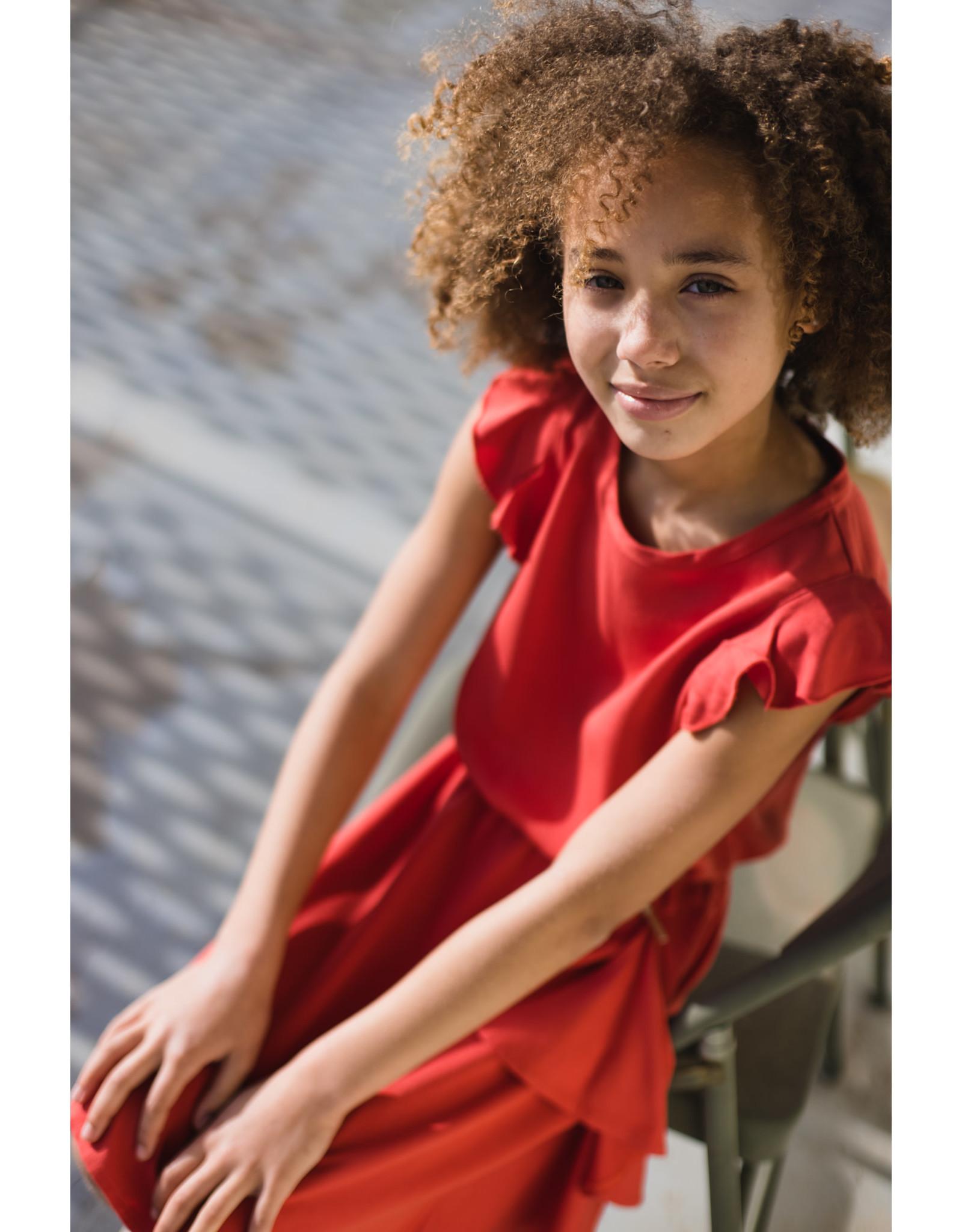 LEVV Levv meiden linnen jurk Madee Stone Red