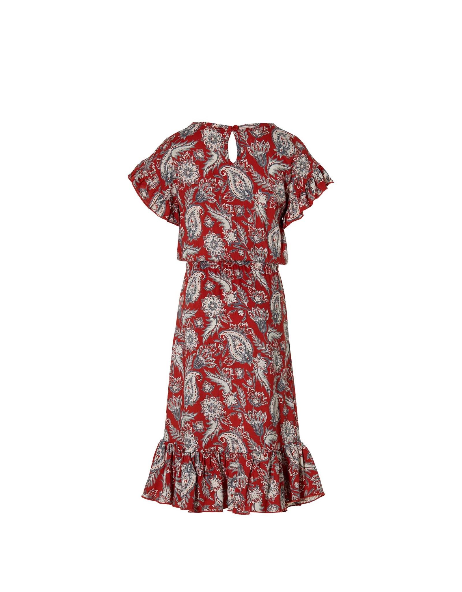 LEVV Levv meiden jurk Maelyn Stone Red Paisley
