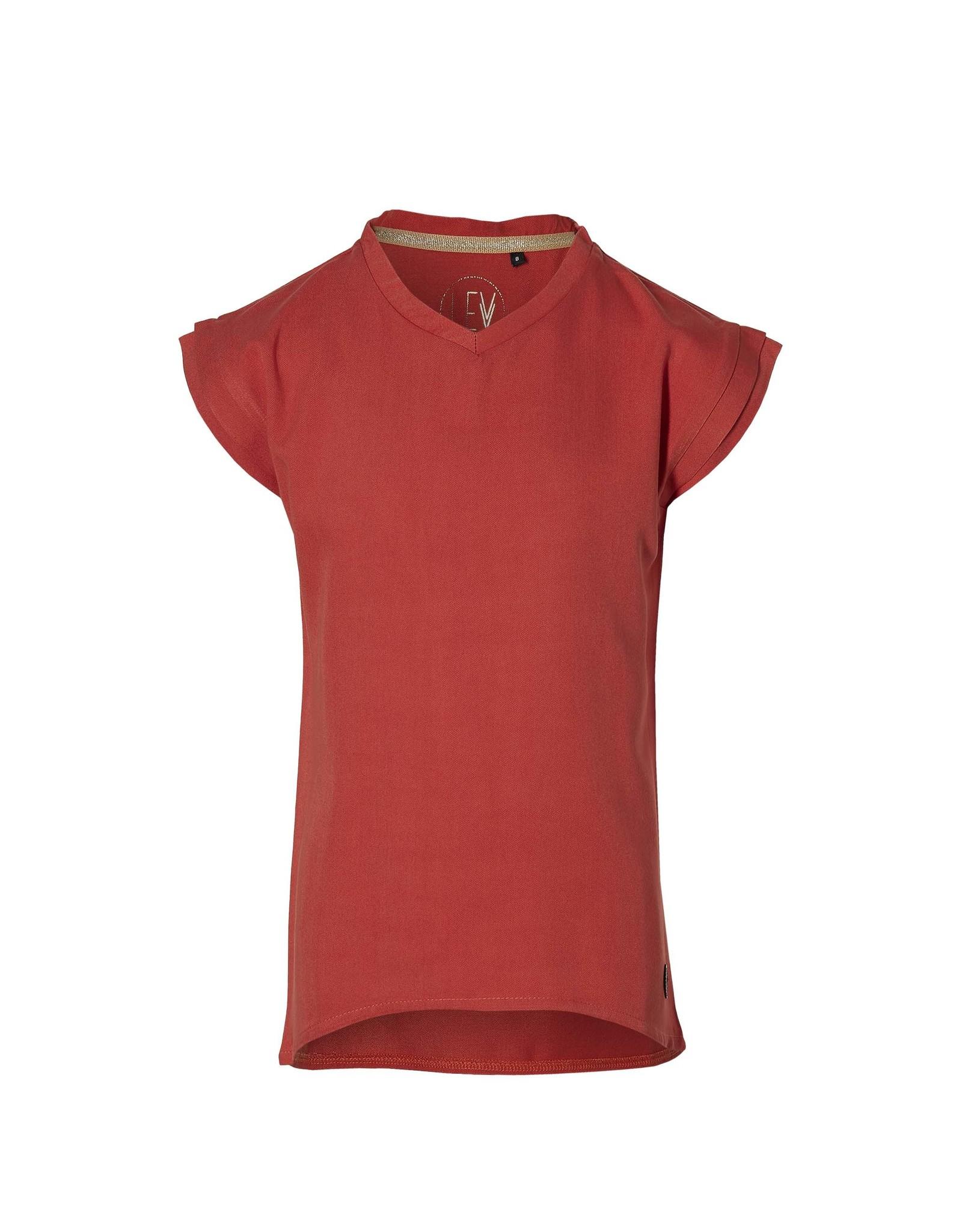 LEVV Levv meiden viscose t-shirt Maureen Stone Red