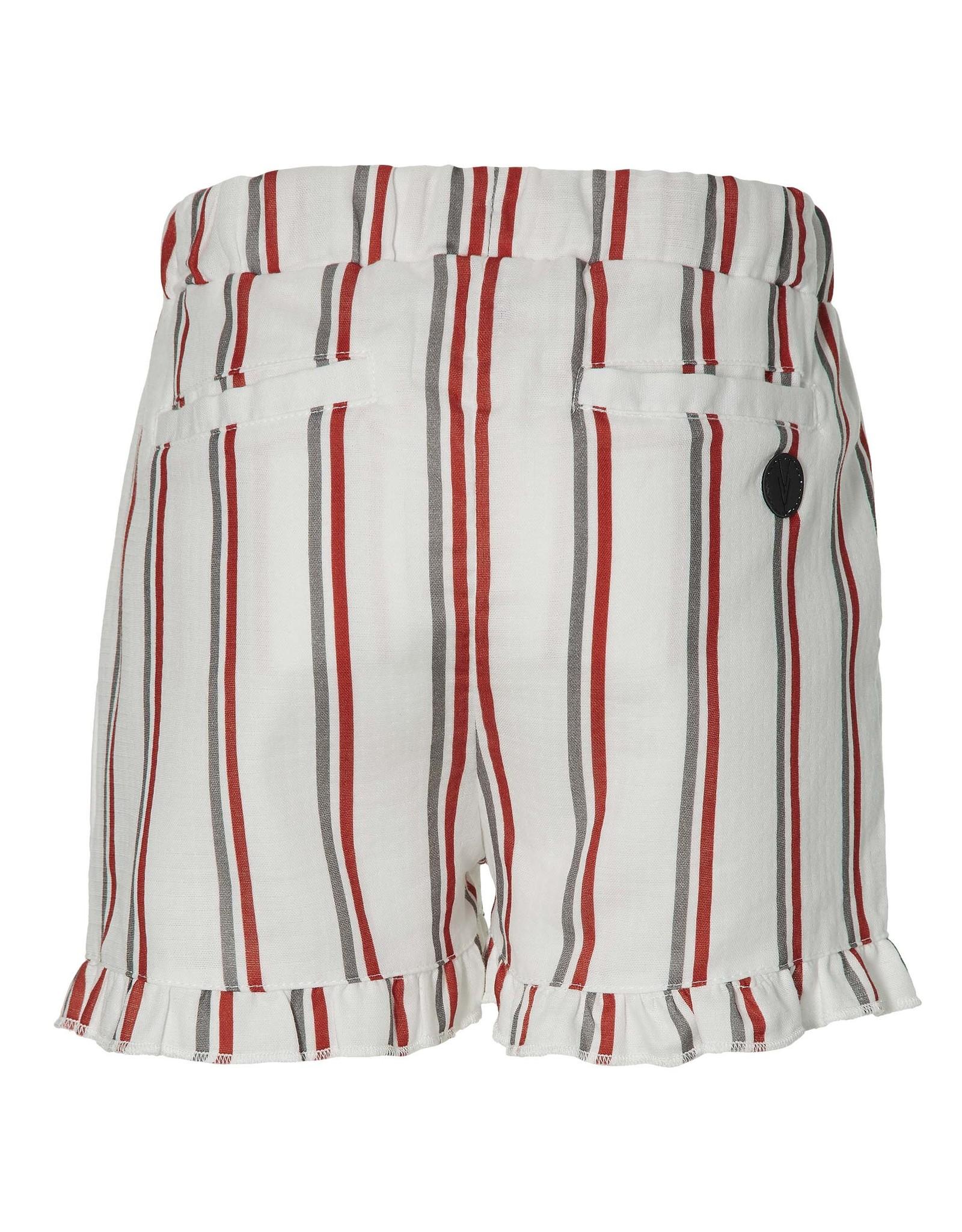 LEVV Levv meiden korte linnen broek Mirei White Stripe
