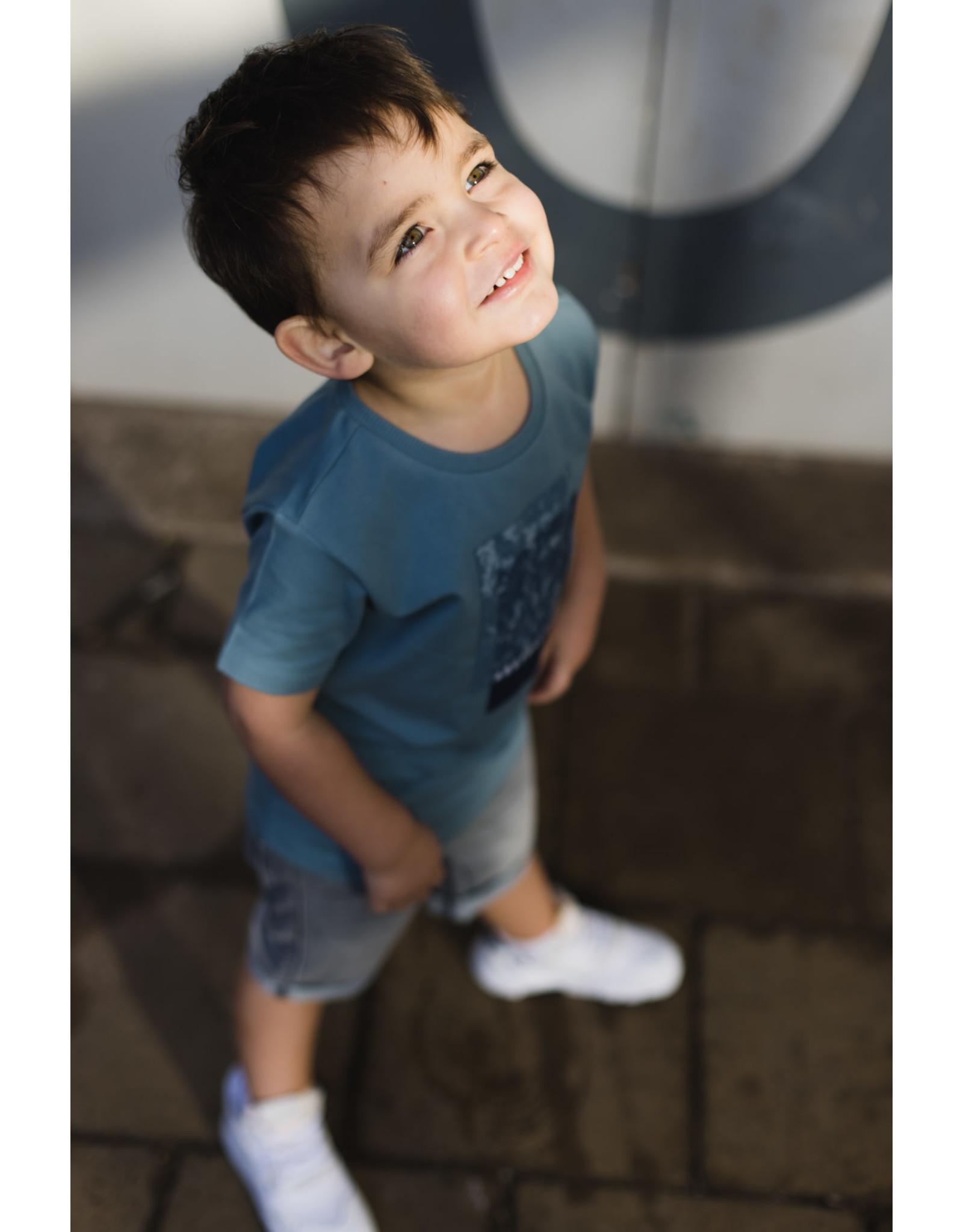 LEVV Levv jongens t-shirt Narin Vintage Blue