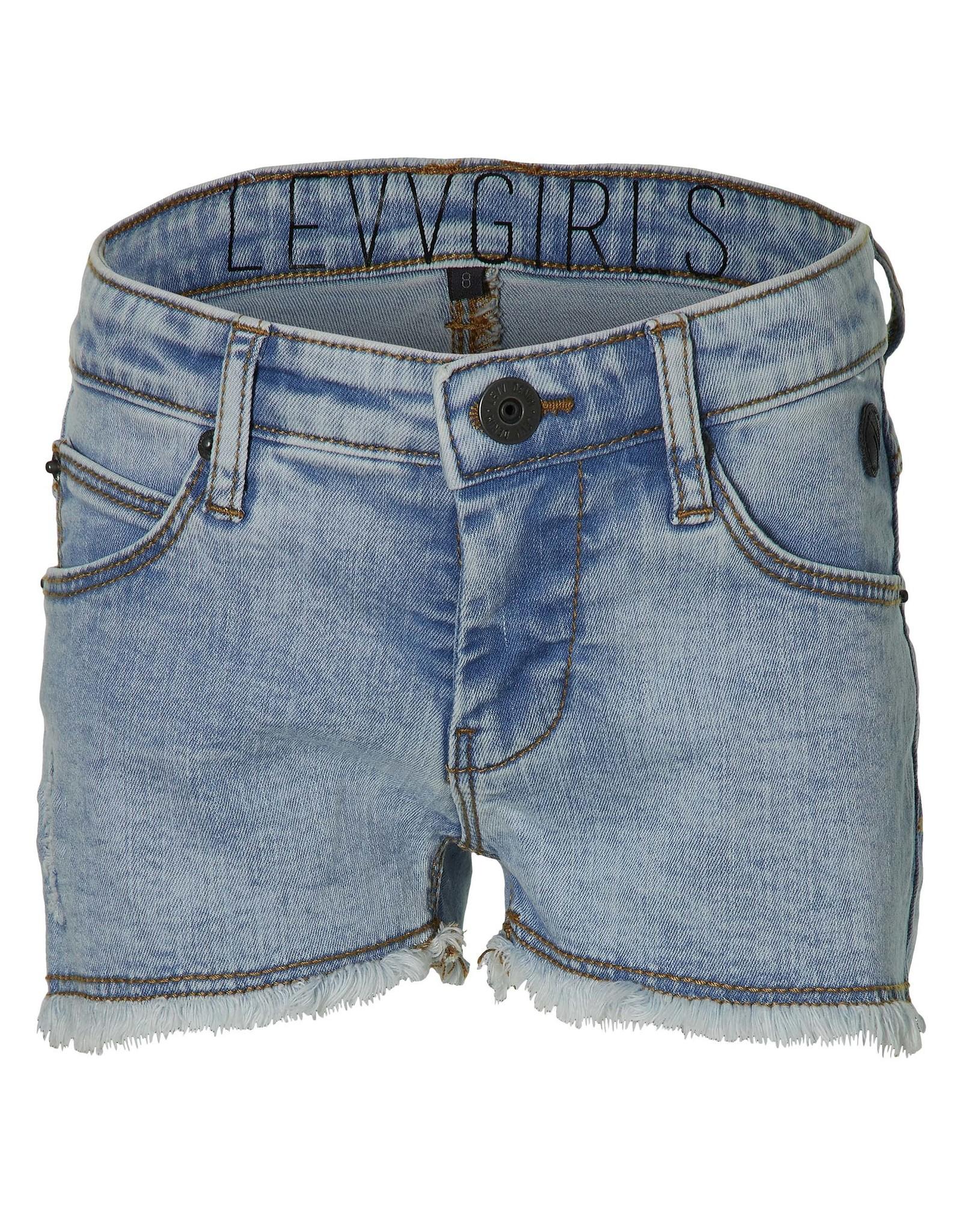 LEVV Levv meiden korte jeans Mirre Blue Grey Denim