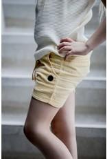 LEVV Levv meisjes linnen korte broek Noel Sahara Yellow