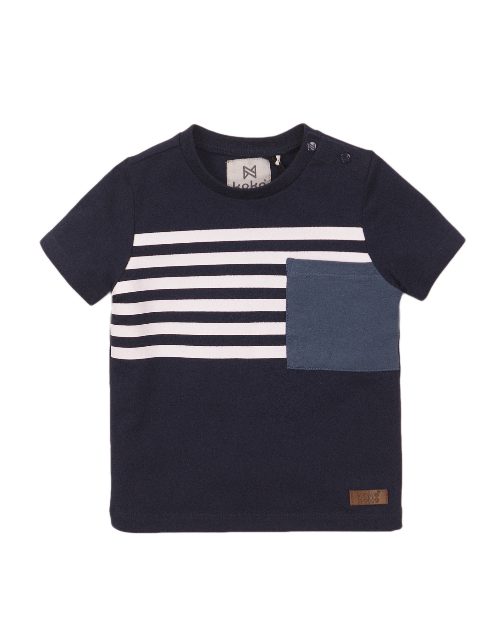 Koko Noko Koko Noko jongens t-shirt half striped Navy