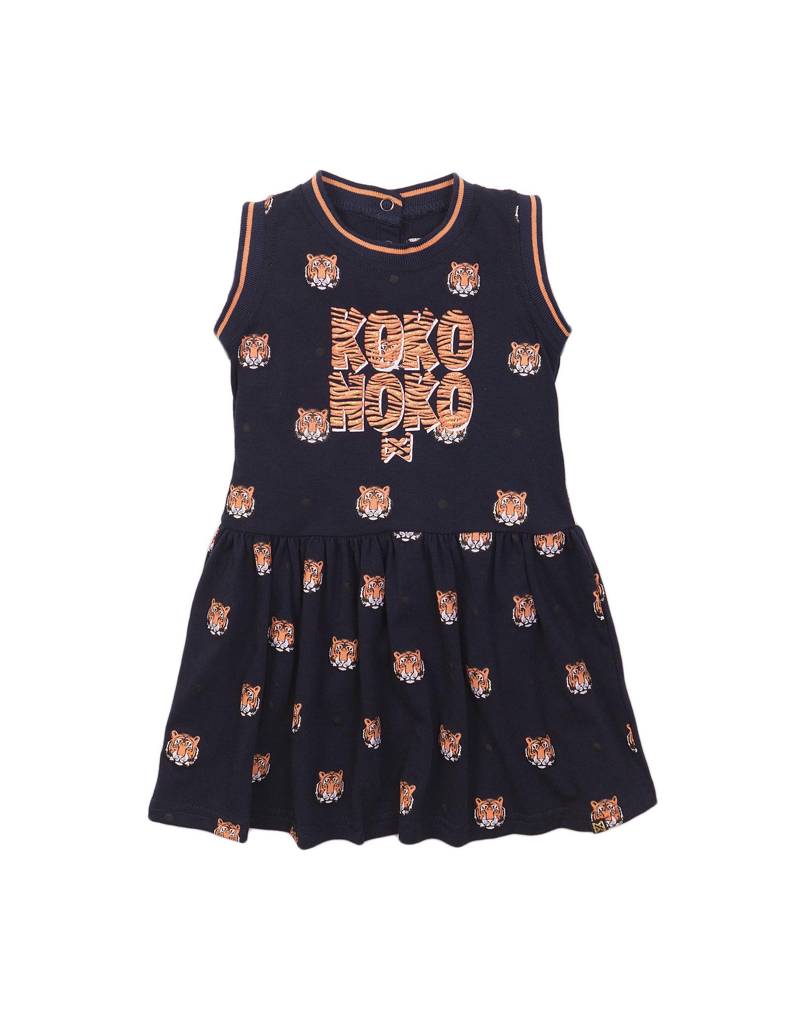 Koko Noko Koko Noko meisjes jurk Tigers Navy