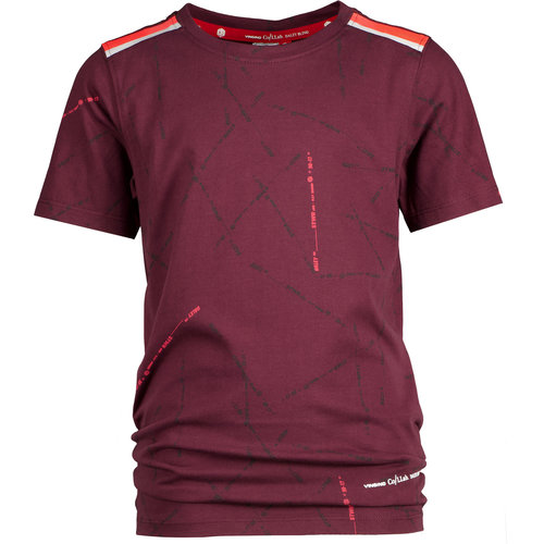 Vingino Vingino jongens Daley t-shirt Hafit Maroon Red