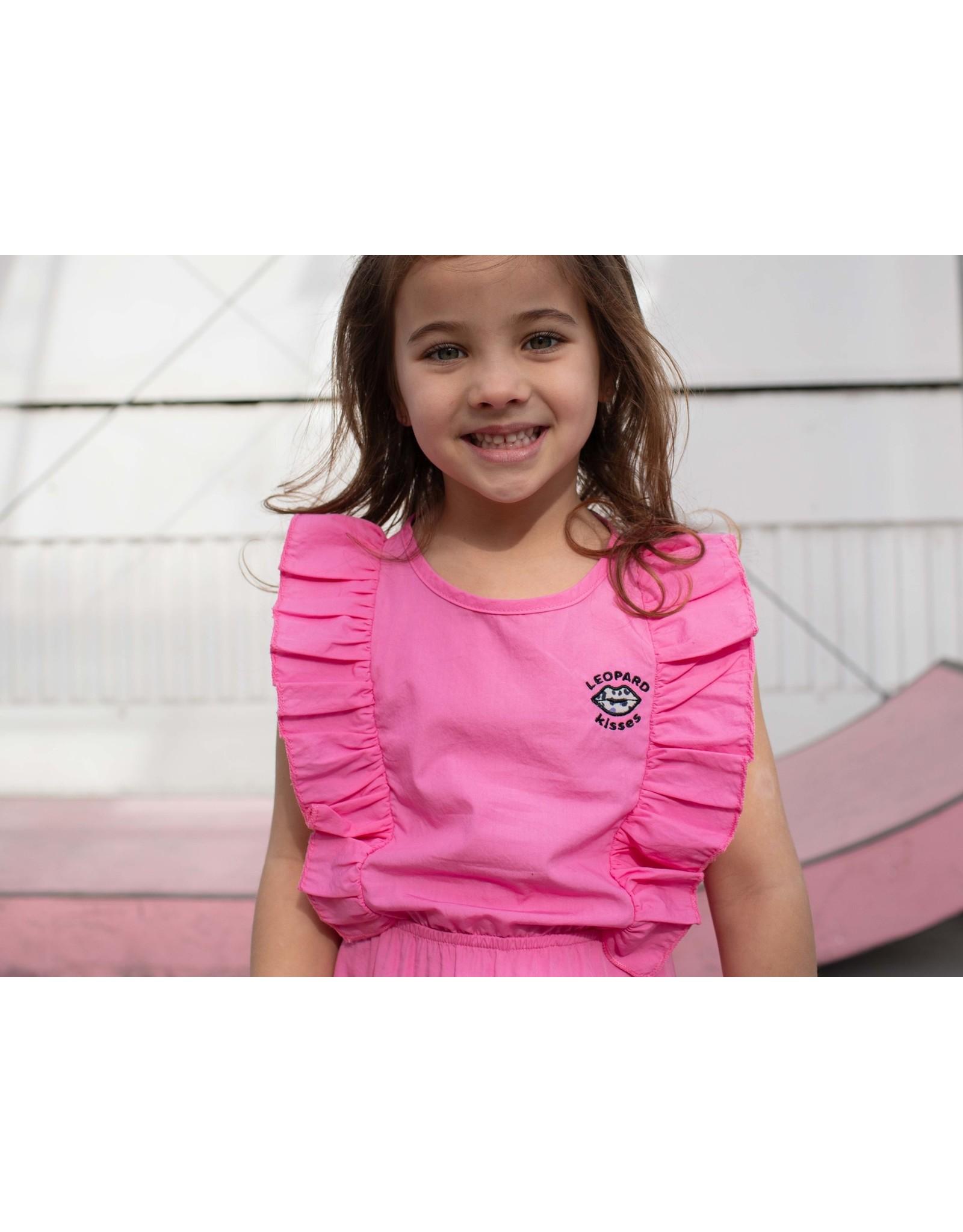 Quapi Quapi meisjes mouwloze jurk Fauve Pink Sweet