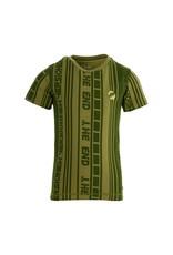 Quapi Quapi jongens t-shirt Fain Green Mid Stripe aop