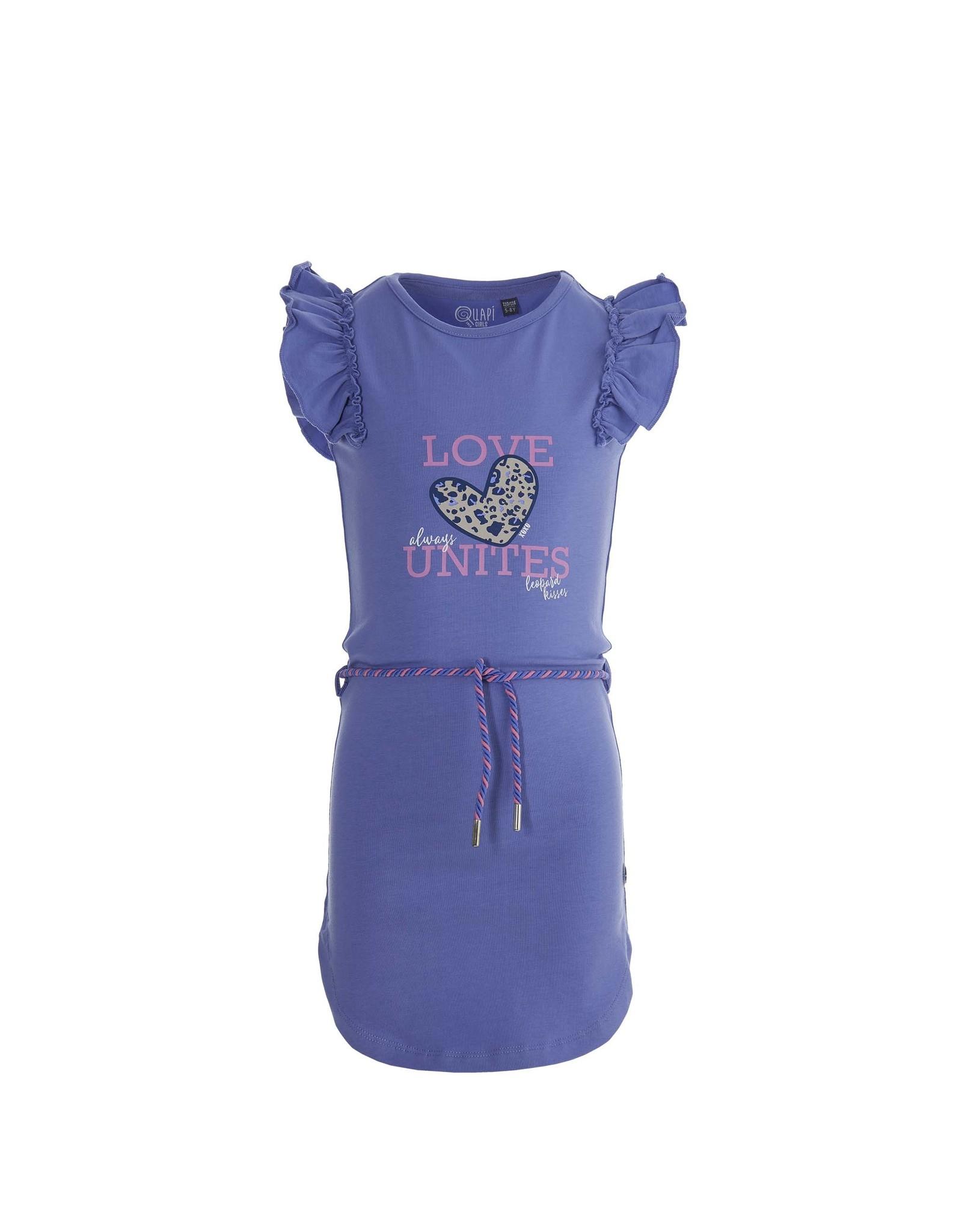 Quapi Quapi meisjes korte mouwen jurk Fee Lilac Summer
