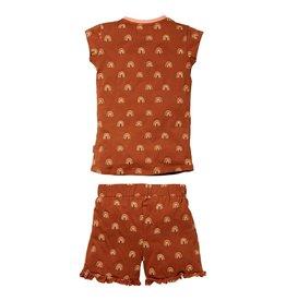 Quapi Quapi meisjes pyjama Pien Rust Rainbow aop
